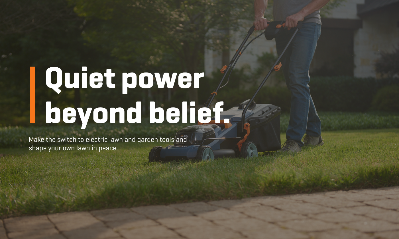 Quiet power beyond belief. Make the switch to electric lawn and garden tools and shape your own lawn in peace.